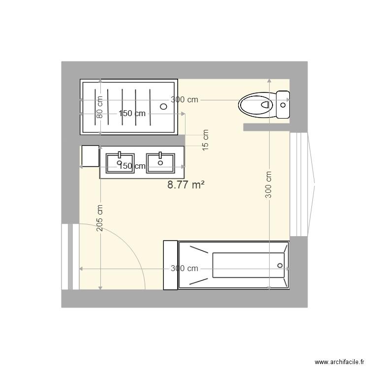Salle De Bain Plan 1 Piece 9 M2 Dessine Par Karinette29