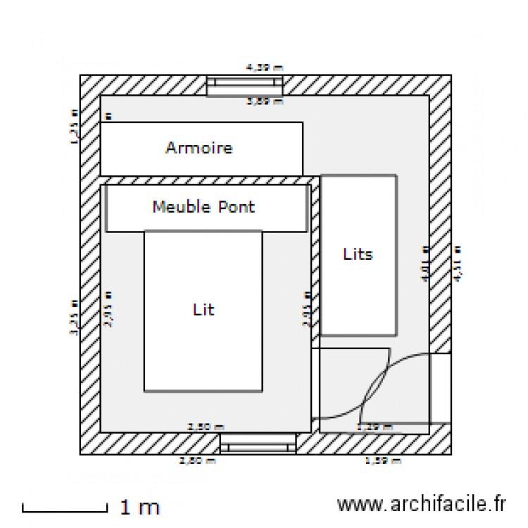 plan 2 pieces 15 m2 dessine par mattflers