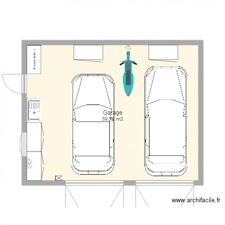 Garage 2 Voitures Plan 1 Pice 40 M2 Dessin Par Mej63