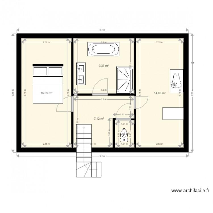 Maison Tagemodif Plan 5 Pices 48 M2 Dessin Par Nicoherve