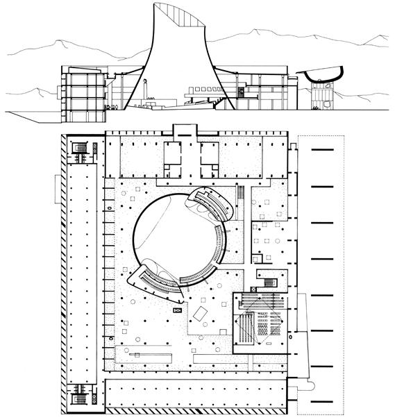 Palais de l'Assemblée du Pendjab, par Le Corbusier