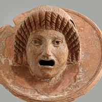 Applique con maschera femminile - Pompei, I sec. d.C. - Terracotta - Inv. 21424