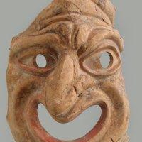 Maschera maschile - Pompei, I sec. d.C. - Terracotta - Inv. 116712