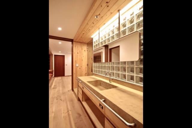 No.068 世田谷区リノベーション K邸事例 洗面化粧台の画像