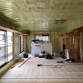 練馬区リフォーム現場の気密シート施工写真