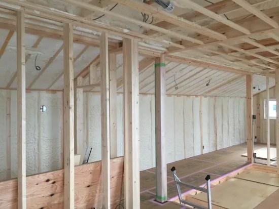 練馬区に注文住宅を建てる工務店の断熱施工写真