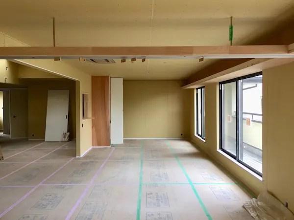 練馬区リフォーム現場の木工事完了写真
