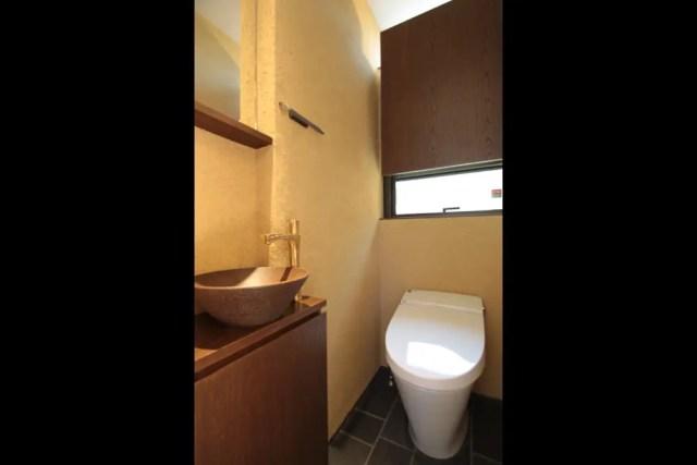 小金井市注文住宅TJ邸のトイレ手洗い画像