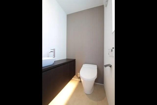 練馬区注文住宅:YO邸のトイレ手洗い画像