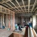 文京区のマンションリフォーム下地施工中写真