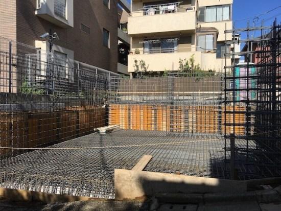 新宿区下落合の注文住宅-鉄筋工事の画像