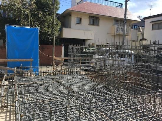 新宿区下落合の注文住宅-鉄筋工事2の画像