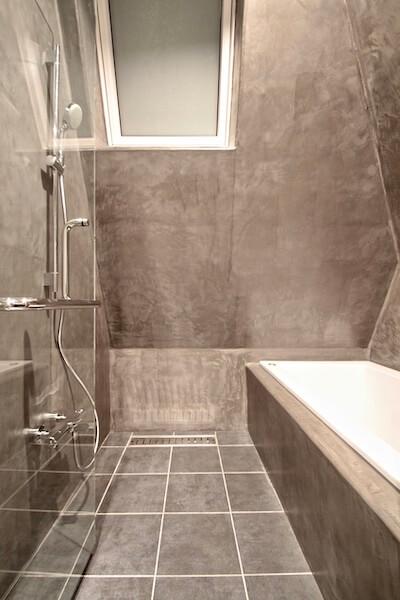 渋谷区注文住宅W邸の在来風呂の画像