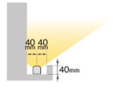 間接照明:灯を上に向けるパターンの画像