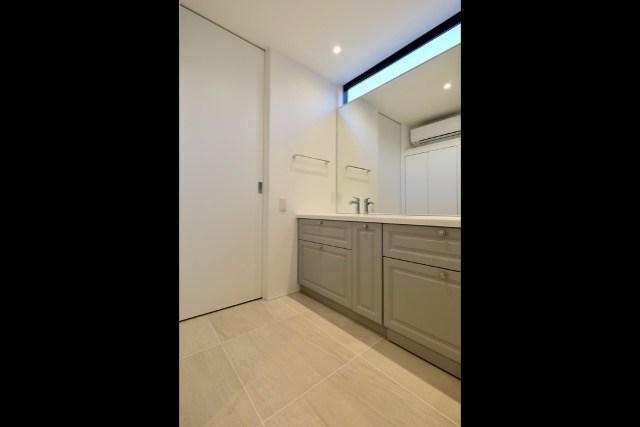 練馬区注文住宅 W邸事例 洗面室の画像