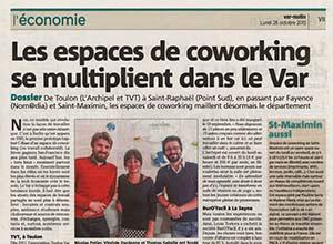 Photo article Var Matin - Les espaces de coworking se multiplient dans le Var