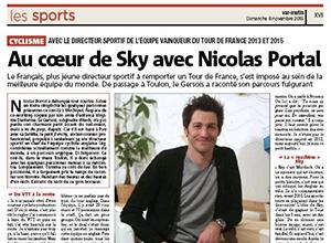 Photo article Var Matin - Au coeur de Sky avec Nicolas Portal