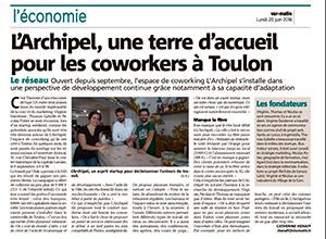 Photo article Var Matin - L'Archipel, une terre d'accueil pour les coworkers à Toulon