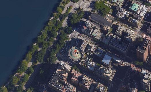Guggenheim_ny_disegno_urban museo Guggenheim di Wright costruito nel 1959 a NW sulla 5 Evenue