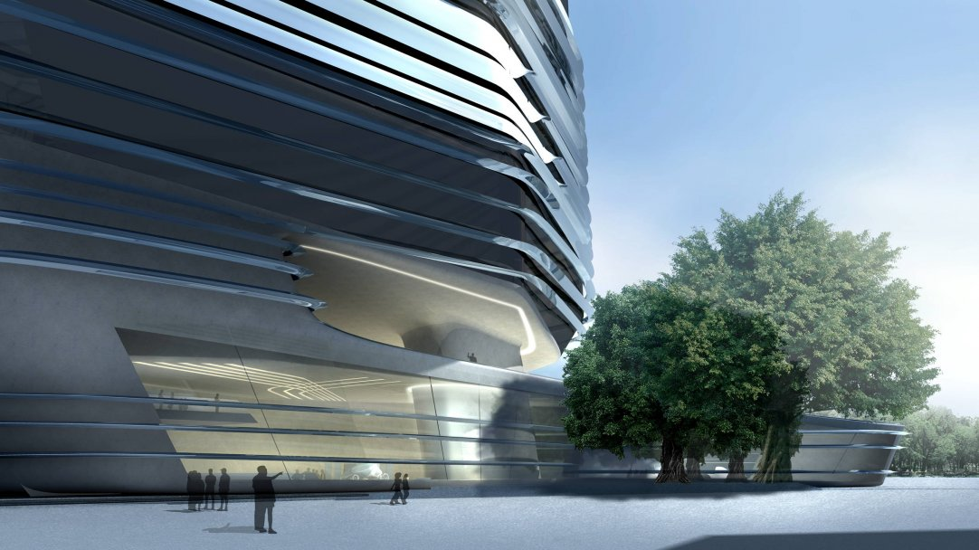 Innovation Tower At Hong Kong Polytechnic University By