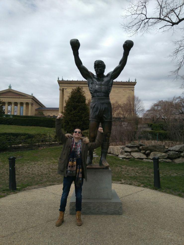 Arts Museum in the city of Philadelphia - Rocky Balboa statue