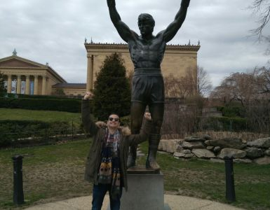Arts Museum in the city of Philadelphia - Rocky Balboa statue