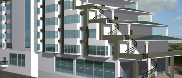 BAJAJ -Dehradoon- Hotel Design with shopping complex