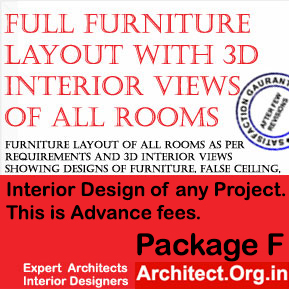 Package F for Interior design of any project for www.Architect.Org.in
