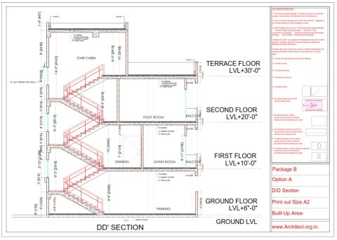 Bungalow working Drawings - Chennai Tamilnadu