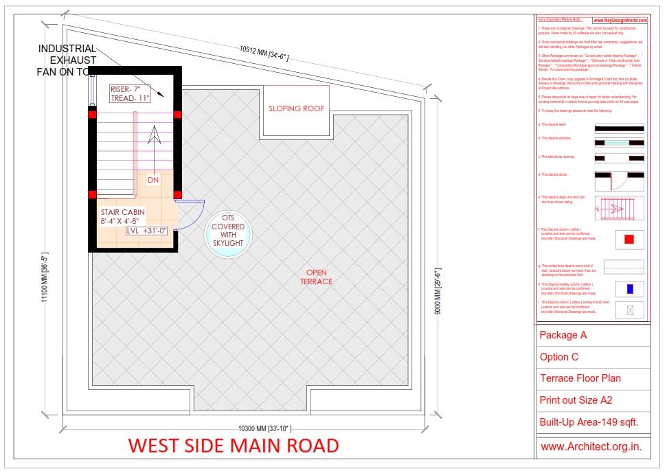 Bungalow Design -Terrace  Floor Plan - Tambaram Chennai Tamilnadu -  Mr.Vinoth S. Nagarajan