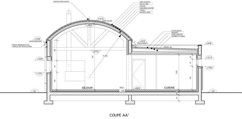 zc 03 toiture cintr e loctudy architecte l 39 ollivier pont l 39 abb architecte l 39 ollivier pont l. Black Bedroom Furniture Sets. Home Design Ideas