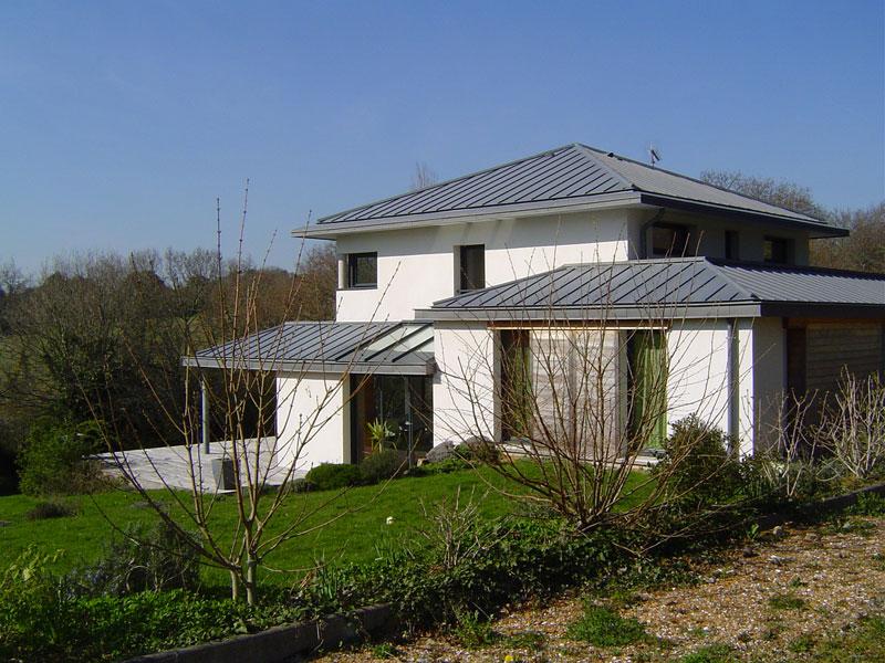 zp 07 toiture en zinc quartz benodet architecte l 39 ollivier pont l 39 abb architecte l 39 ollivier. Black Bedroom Furniture Sets. Home Design Ideas