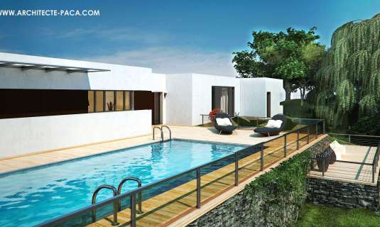 plan maison moderne plain pied toit plat en pdf. Black Bedroom Furniture Sets. Home Design Ideas