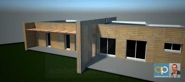 Perspective de maison ossature bois