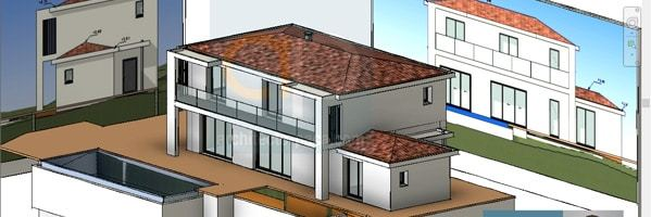 plan-architectural-maison-facades-elevations
