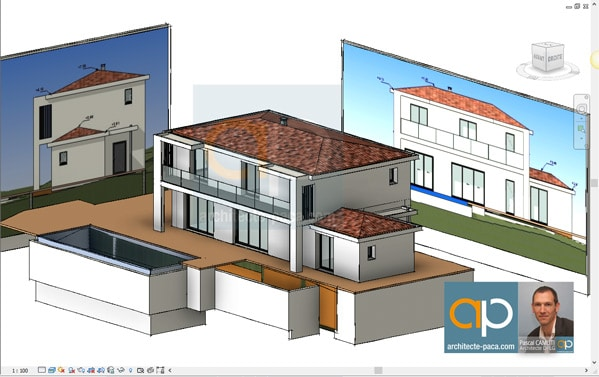 plan-architectural-maison-facades-elevations