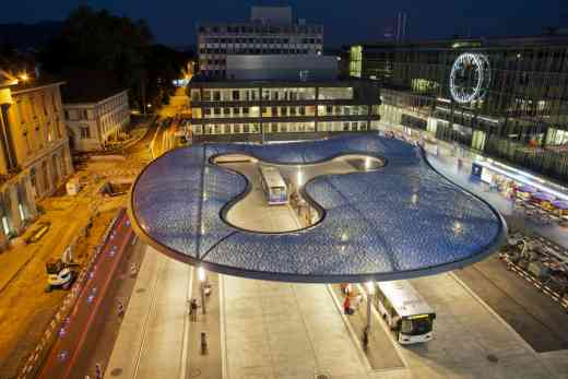 Bus Station Canopy Aarau, Switzerland