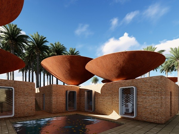 Architects Design Innovative Bowl Roofs For Rainwater