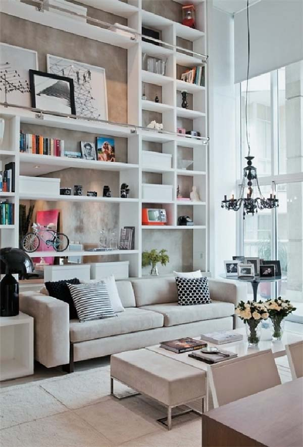 30 Marvelous Bookshelf Walls