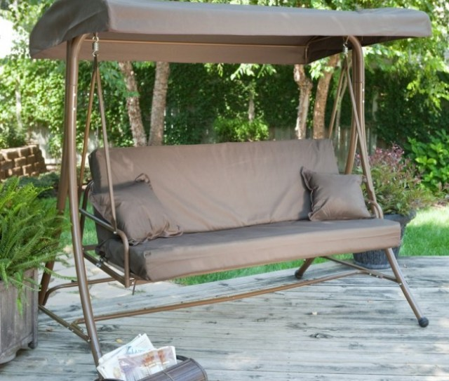Siesta  Person Canopy Swing Bed  Beautiful Outdoor Furniture Designs