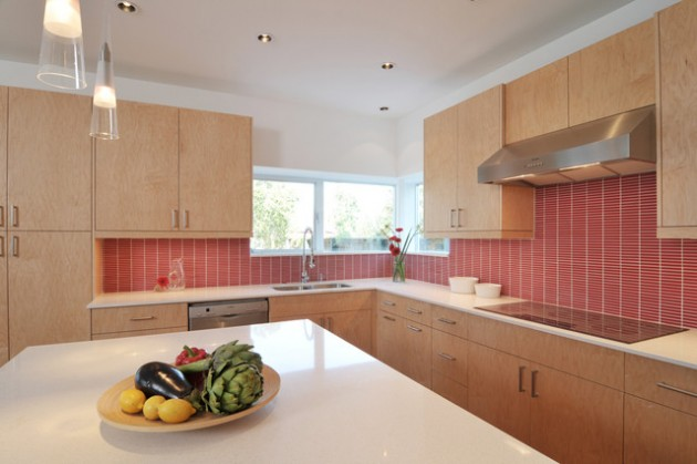 20 Red Backsplash Designs For Festive Spirit In The Kitchen