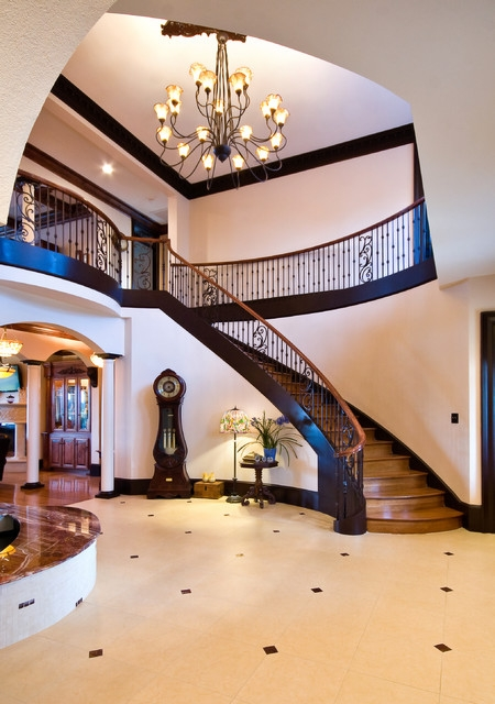 17 Great Traditional Staircases Design Ideas   Round Staircase Designs Interior   Classic   Wooden   Elegant   Showroom   Round Shape Round