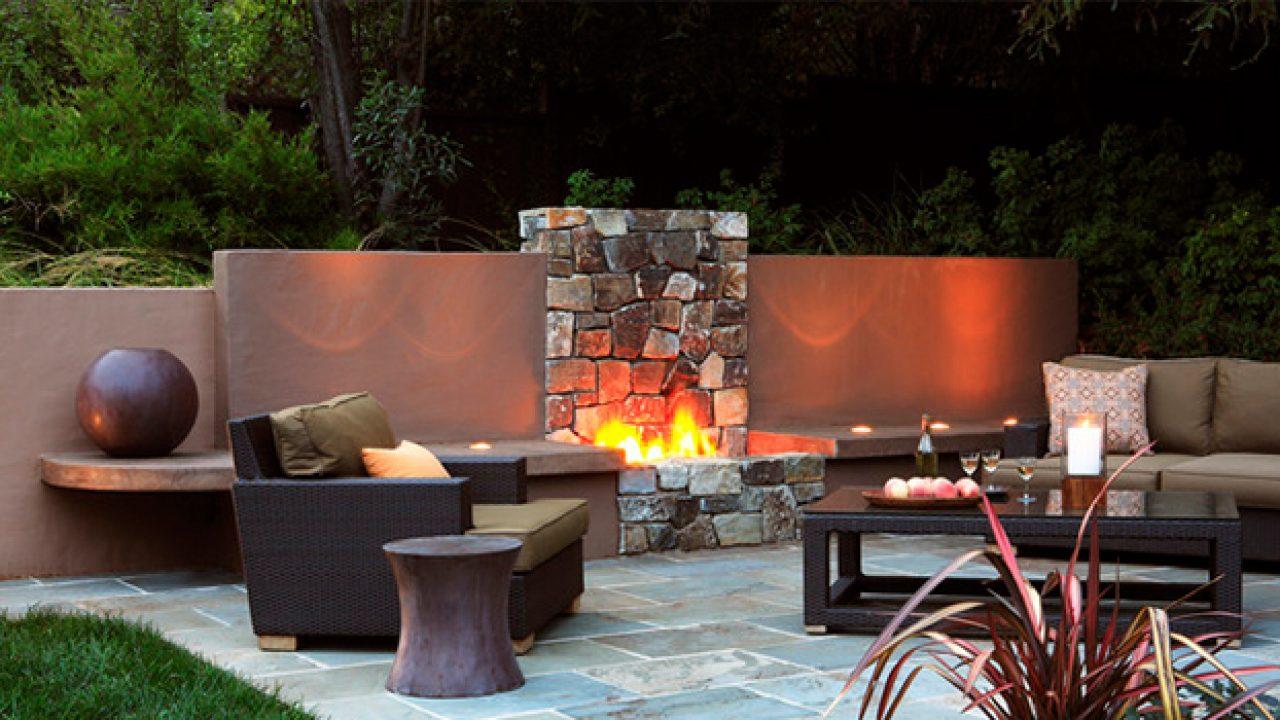 16 relaxing outdoor fireplace designs