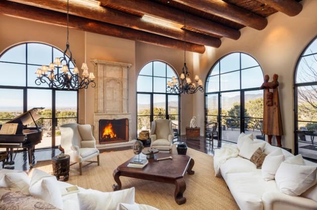 15 Exceptionally Luxury Mediterranean Living Room Designs