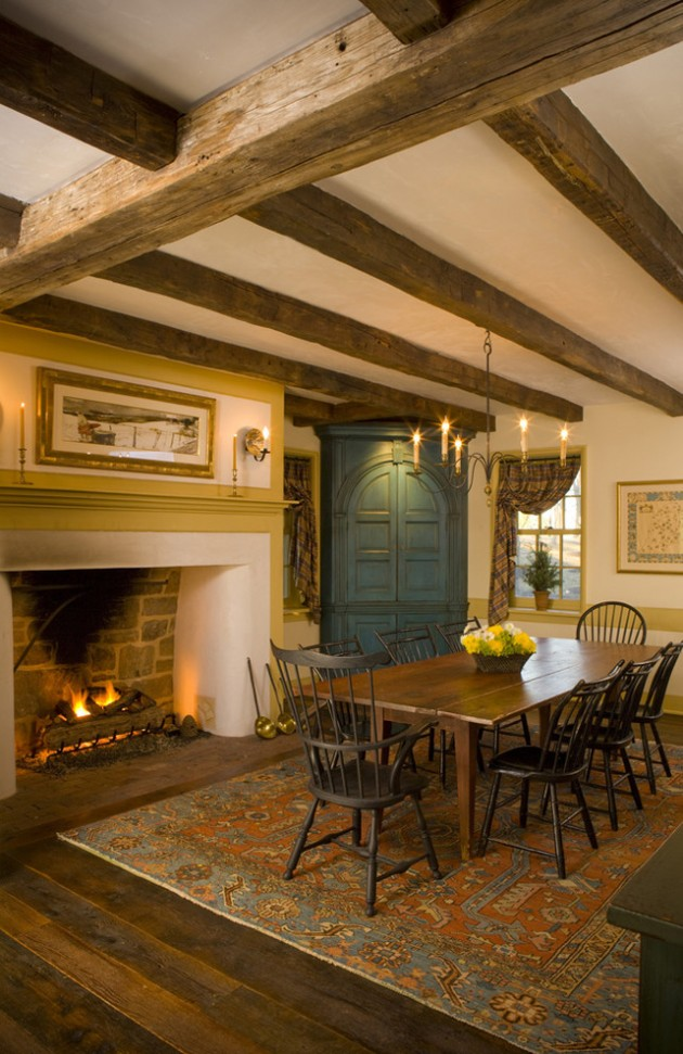 15 Warm Amp Cozy Rustic Dining Room Designs For Your Cabin