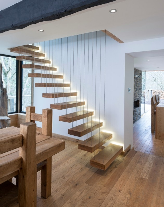 15 Uplifting Contemporary Staircase Designs For Your Idea Book   Stairs For Homes Designs   Tv Lounge   Fabrication   Creative   Small House   Residential