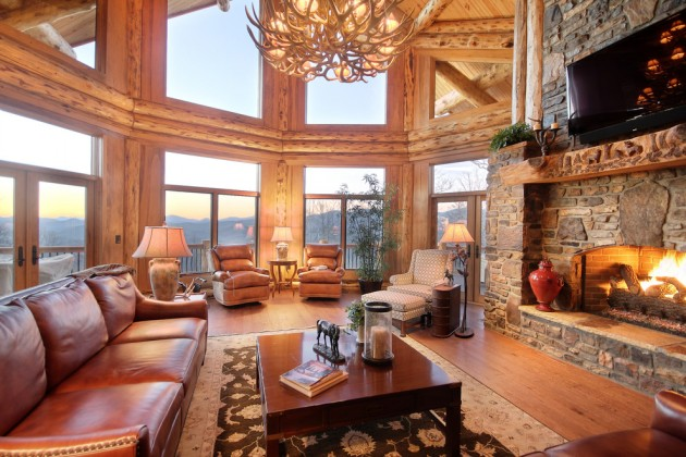 15 Warm Amp Cozy Rustic Living Room Designs For A Cozy Winter