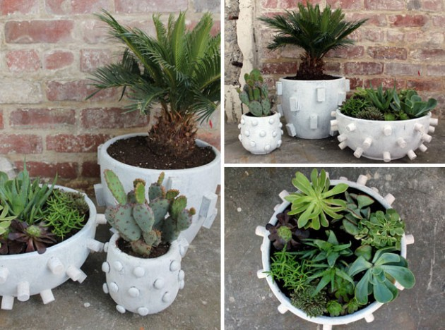Stone Garden Pots