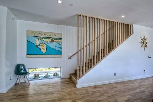 15 Outstanding Mid Century Modern Staircase Designs To Bring You   Mid Century Modern Handrail   Porch   Interior   Art Deco   Wooden   Railing
