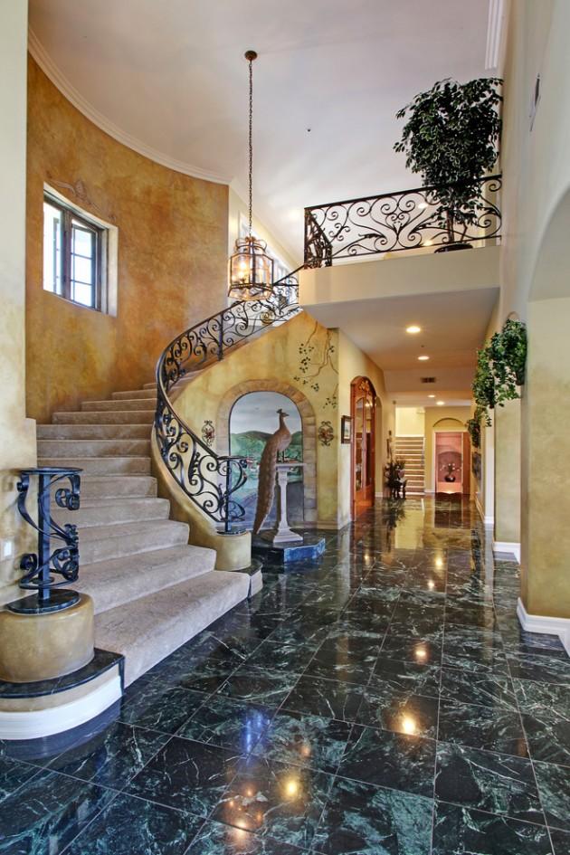 18 Palatial Mediterranean Staircase Designs That Redefine